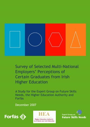 Survey of Selected Multi-National Employers' Perceptions of ... - Forfás