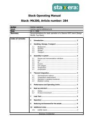 Stack Operating Manual Stack: Mk200, Article ... - Fuel Cell Markets