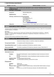 x käyttöturvallisuustiedote 1. kemikaalin ja sen valmistajan ... - Fixus