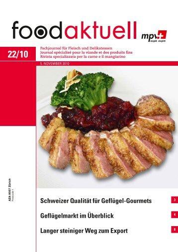 Schweizer Qualität für Geflügel-Gourmets ... - Foodaktuell.ch