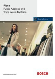 Plena Public Address and Voice Alarm Systems - Pacat.co.uk