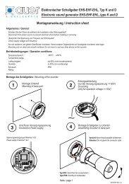 Elektronischer Schallgeber EHS-EHF-EHL, Typ K und D Electronic ...