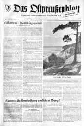 Volkstreue - Preussische Allgemeine Zeitung - Ausgabenübersicht