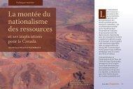 La montée du nationalisme des ressources et ses ... - Fraser Institute
