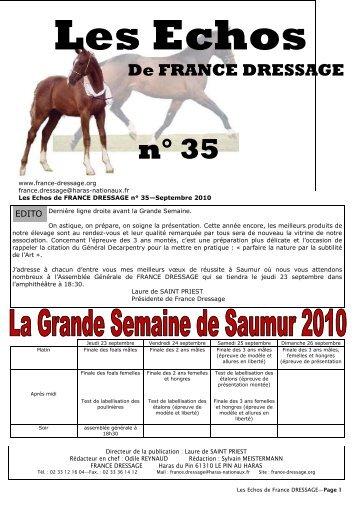 Les Echos N° 35 (pdf) - France Dressage