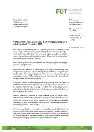 FOTdanmarks høringssvar vedrørende beslutningsgrundlag for ...