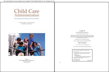 Child Care - Goodheart-Willcox