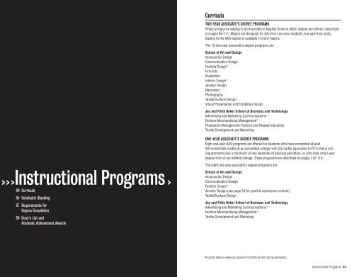 Instructional Programs Fashion Institute Of Technology
