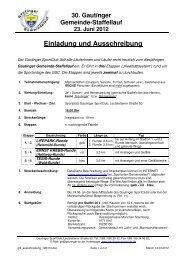 Einladung und Ausschreibung - Gautinger Sportclub e.V.