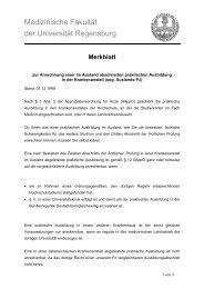 Medizinische Fakultät der Universität Regensburg
