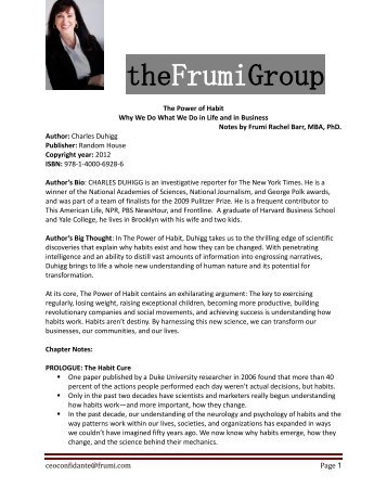 The Power of Habit - Frumi Group