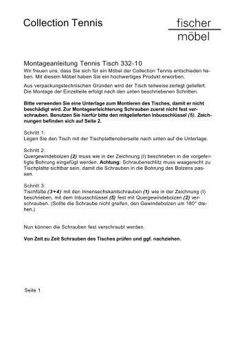 Eden Tisch Montageanleitung Fischer Möbel