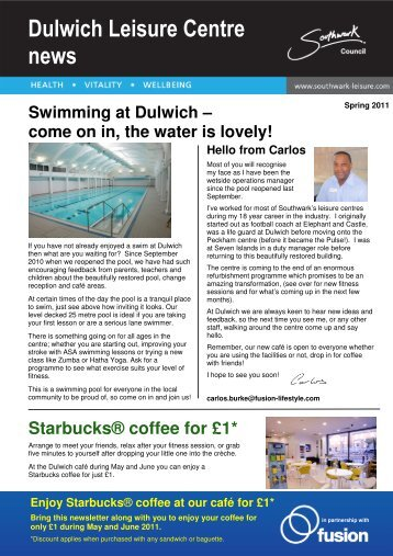 Dulwich Leisure Centre news - Fusion Lifestyle