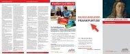 Frankfurt Weekends 2013 - Tourismus und Congress GmbH