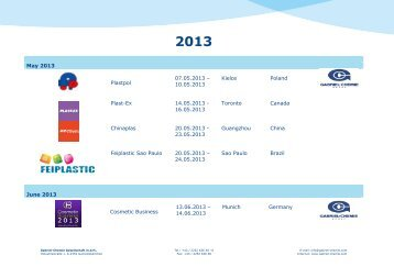 May 2013 Plastpol 07.05.2013 – 10.05.2013 ... - Gabriel Chemie
