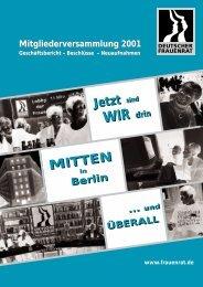 Umzug in die Hauptstadt Berlin - Deutscher Frauenrat