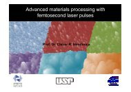 Advanced materials processing with femtosecond laser pulses