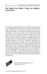 Die Macht der Bilder: Krieg als Medien- spektakel - Institut für ...