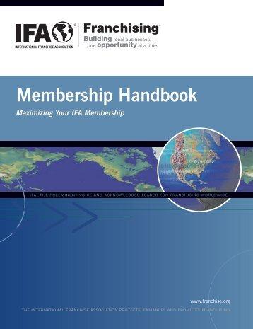 Membership Handbook - International Franchise Association