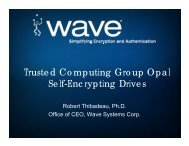 Trusted Computing Group Opal Self-Encrypting Drives