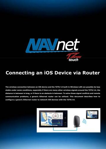 Connecting an iOS Device via Router - Furuno USA
