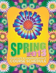 Spring 2013 Course Schedule (pdf) - Fontbonne University