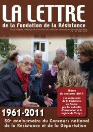 Lettre de la Fondation - Fondation de la Résistance