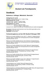 Deutsch als Fremdsprache - Fremdsprachenforum