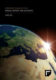 foresight solar vct plc annual report and accounts - Foresight Group