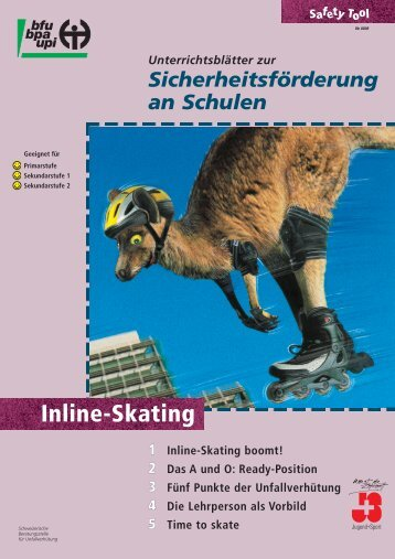 Inlineskating, Safety Tool - Fonds für Verkehrssicherheit FVS