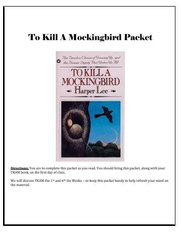 to kill a mockingbird sparknotes pdf