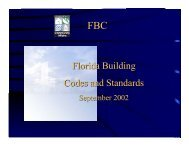 Florida Building Codes and Standards