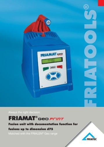 Flyer FRIAMAT Geo print - Friatec