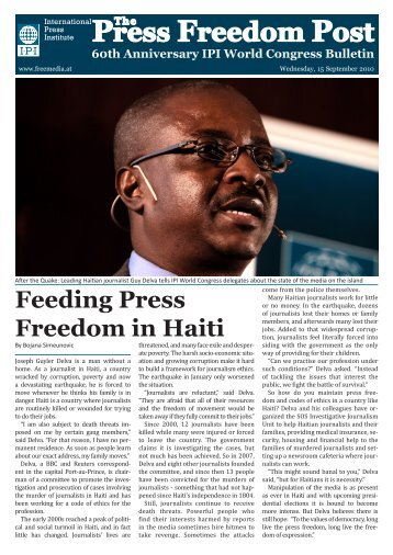 Press Freedom Post - Tuesday - International Press Institute