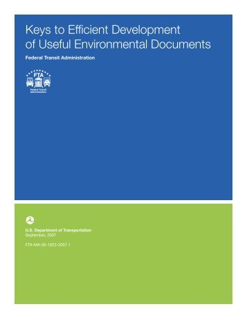 Keys to Efficient Development of Useful Environmental Documents