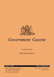 26th September - Government Gazette