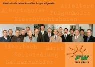 Biberbach mit seinen Ortsteilen ist gut aufgestellt - Freie Wähler ...