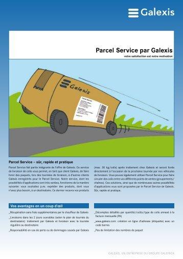 Parcel Service par Galexis - Galexis.com