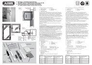 D Montage- und Bedienungsanleitung für ABUS Fenster - ELV