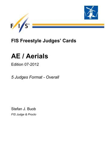Judges Cards Aerials 2012 - FIS