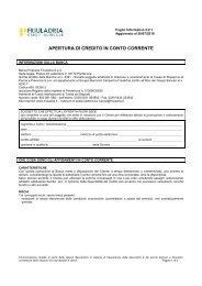 APERTURA DI CREDITO IN CONTO CORRENTE - Friuladria