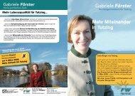 Mehr Miteinander in Tutzing Gabriele Förster - Freie Wähler Bayern