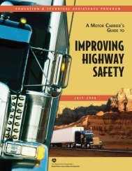 A Motor Carrier's Guide to Improving Highway Safety - Federal Motor ...