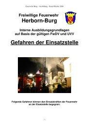 Gefahren der Einsatzstelle - Freiwillige Feuerwehr Burg