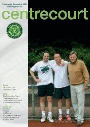 Ausgabe 4, Winter 2007 - FTC Palmengarten