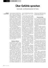 Grammatik- und Wortschatzarbeit mit Texten - Friedrich Verlag