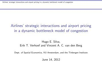 Airlines' strategic interactions and airport pricing in a dynamic ...