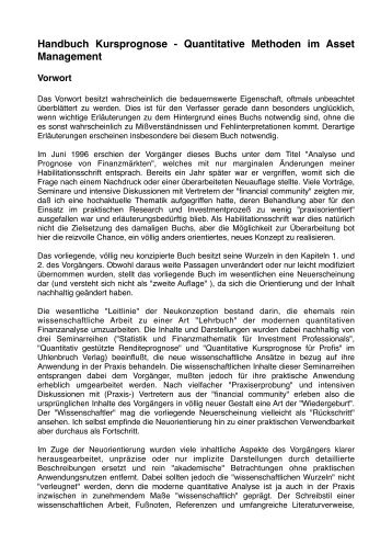 Handbuch Kursprognose.pdf - Finanzwirtschaft - Universität Bremen