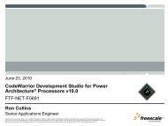 CodeWarrior Development Studio for Power Architecture ... - Freescale