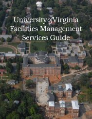 Services Guide - Facilities Management - University of Virginia